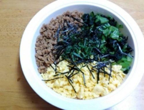 高野豆腐のそぼろ丼