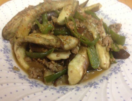 大豆挽肉の中華炒め
