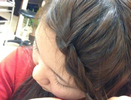 前髪の編込み(実践編)